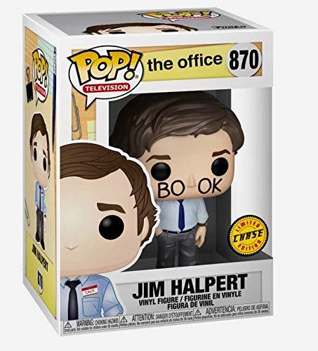 Funko TV The Office - Jim Halpert Limited Edition Chase Pop Vinyl Figure Includes Compatible Pop Box Protector Case
