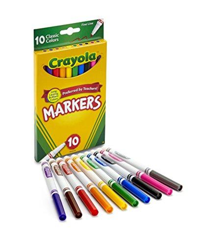 Crayola 10 Ct Fine Line Markers