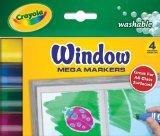 Crayola Washable Window Mega Markers-4Pkg