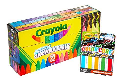 Crayola 64ct Sidewalk Chalk Set with 5ct Color Core