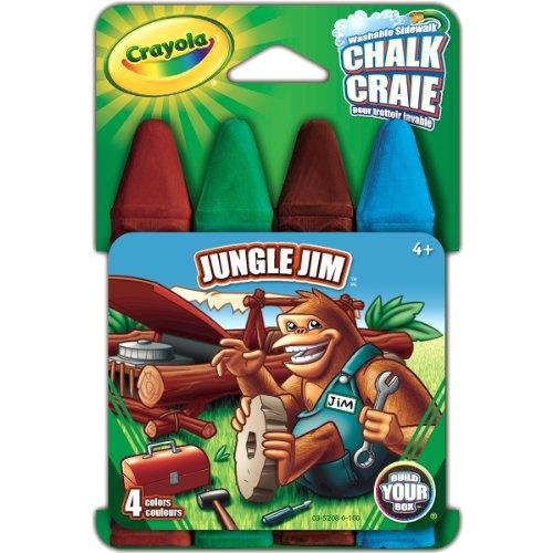 Crayola Build Your Box Jungle Jim Chalk 4 Count