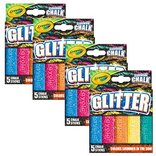 Crayola Outdoor Chalk Glitter Sidewalk Chalk Summer Toys 4