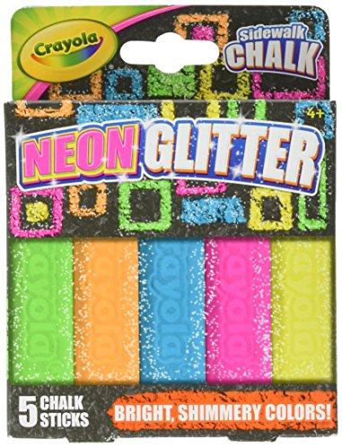 Crayola Sidewalk Chalk NeonGlitter