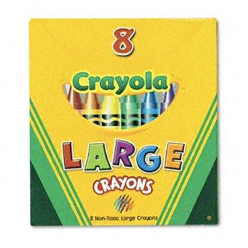 CrayolaLarge Crayons CRAYONLGTUCKBX8STAST Pack of50