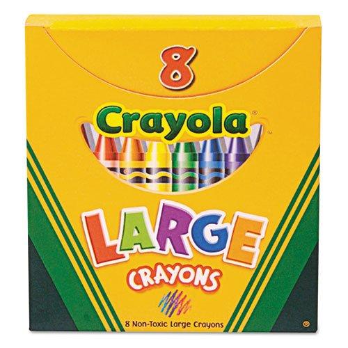 Crayola - Large Crayons Tuck Box 8 ColorsBox 52-0080 DMi BX