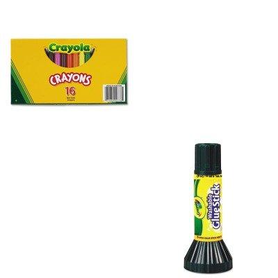 KITCYO520336CYO561135 - Value Kit - Crayola Large Crayons CYO520336 and Crayola Washable Glue Stick CYO561135