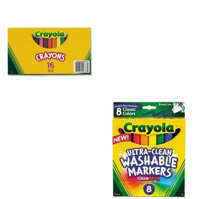 KITCYO520336CYO587808 - Value Kit - Crayola Large Crayons CYO520336 and Crayola Washable Markers CYO587808