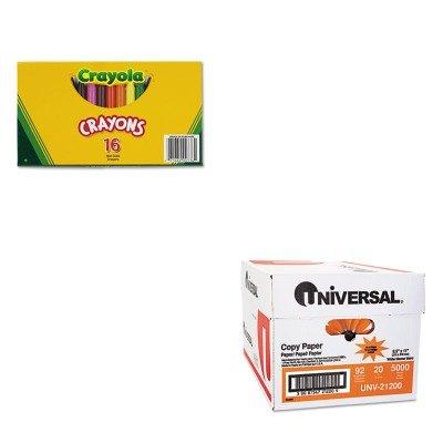 KITCYO520336UNV21200 - Value Kit - Crayola Large Crayons CYO520336 and Universal Copy Paper UNV21200