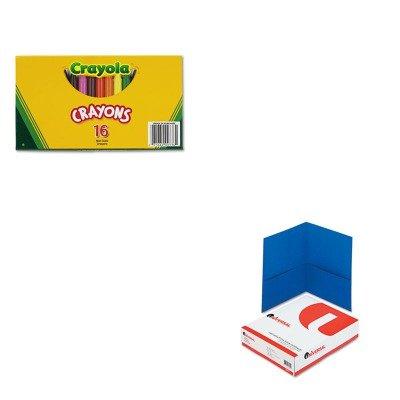 KITCYO520336UNV56601 - Value Kit - Crayola Large Crayons CYO520336 and Universal Two-Pocket Portfolio UNV56601
