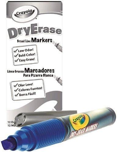 Crayola 98-9626-042 Crayola Dry Erase Marker Chisel Tip Blue Box of 12 by Crayola