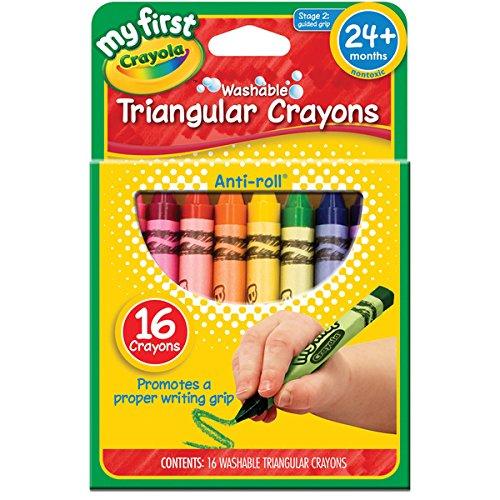 My First Crayola Washable Triangular Crayons-16Pkg