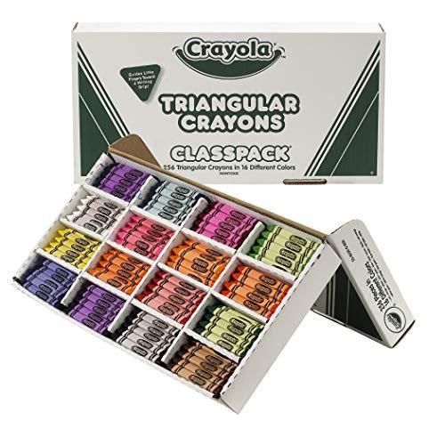 Crayola BIN528039 Triangular Crayon Classpack 16 Colors 256 Count