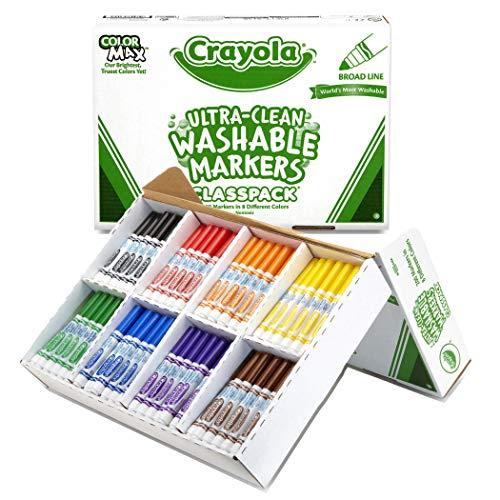 Crayola Bulk Broad Line Washable Markers School Supplies Classpack 200 Count