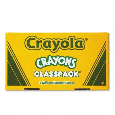 Crayola Classpack Crayons - Wax Color Red Blue Yellow Orange Green Purple Brown Black Violet - 400  Box