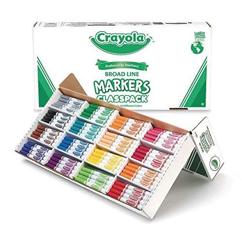 Crayola Classpack Markers - 16 Colors Regular Tip