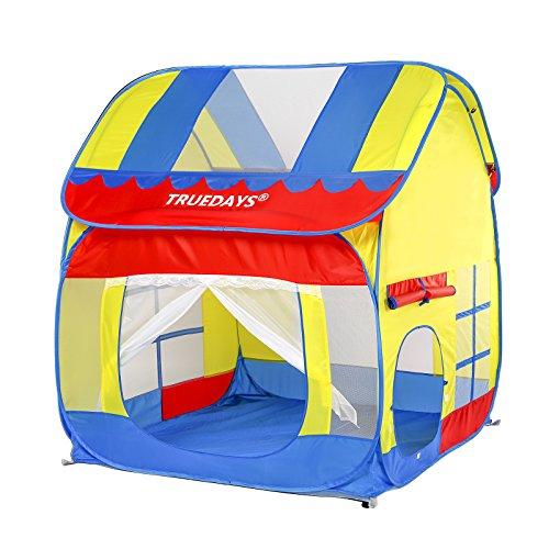 Truedays Kids Outdoor Indoor Fun Play Big Tent Playhouse 551x472-Inch
