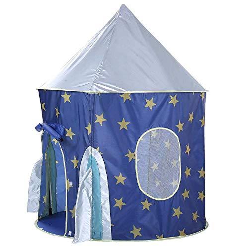 elebox Rocket Ship Play Tent IndoorOutdoor Playhouse Easy Set up Princess Castle Blue