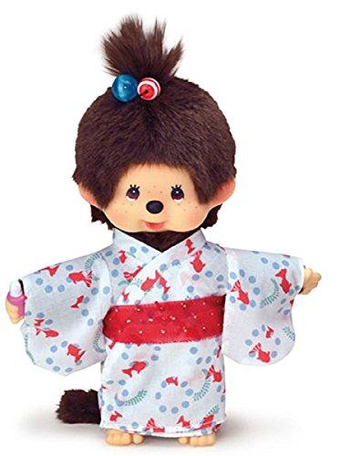 Original Sekiguchi 8 Girl Monchhichi Doll in Yukata Outfit