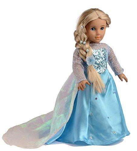 Ebuddy Sparkle Princess Dress Clothes Fits 18 Inch Girl Dolls
