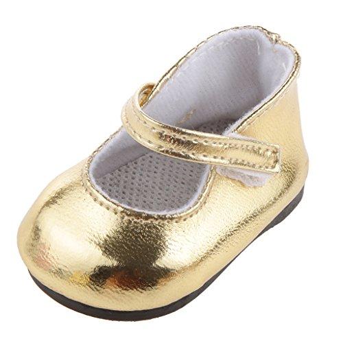 Golden Shoes for 18 inch Girl Dolls