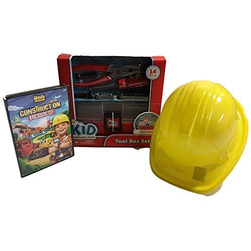 Kids Tool Set with Kids Construction hat and BONUS Bob Builder DVD