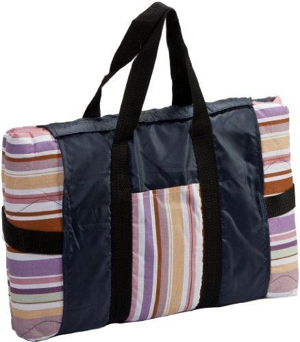 Clara Clark AR Water Resistant Outdoor Baby Picnic Blanket Pastel Stripes by Clara Clark