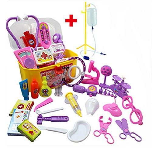 Role Play Game Doctors Toys Medicine Cabinet Sets for Children Kids Pink