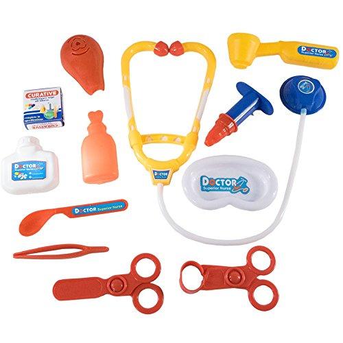 TukTek Kids First 11 Piece Play Doctor Toy Medical Kit