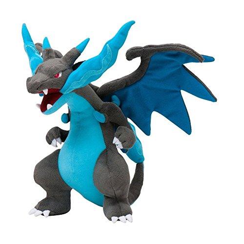 Generic Mega Charizard X Plush Toys Stuffed Doll With Badges Blue 9
