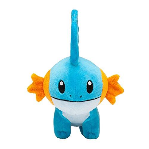 Generic Mega Mudkip Mizugorou Plush Toys Stuffed Doll With Badges Blue 8