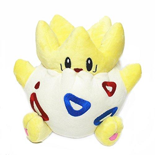 Generic Mega Togepi Plush Toys Stuffed Doll With Badges Yellow 4