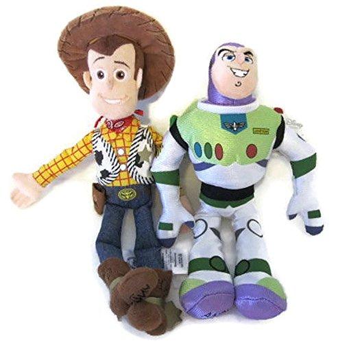 Toy Story Buzz Lightyear and Woody Soft Plush Figures Stuffed Dolls