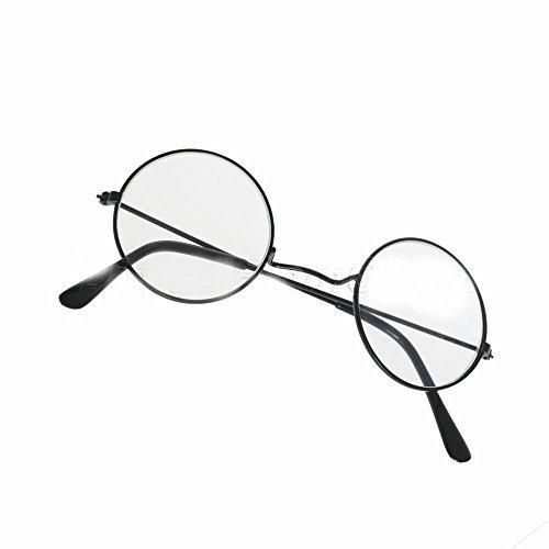 Costume Cosplay Harry Potter Glasses Nerd Bookworm Round Eye Dress Up Halloween