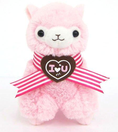 Llama Sweet Heart Alpaca 7 Prime Plush Pink