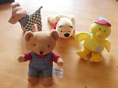4 Small Stuffed Toys