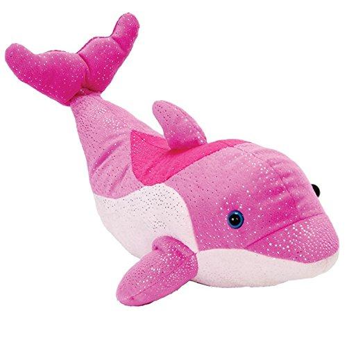 12 Pink Happy Tail Bottlenose Dolphin Plush Stuffed Animal Toy