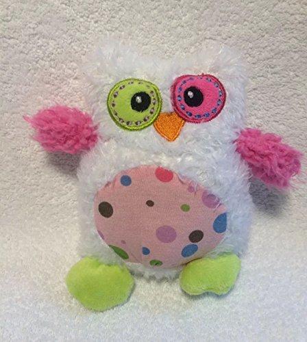 Dan Dee Collectors Choice Owl Bird Plush White PInk Stuffed Animal Lovey Toy