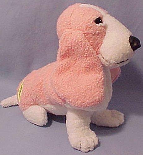 Plush 2000 Summer Hush Puppies Basset Hound Soft Pink Stuffed Animal