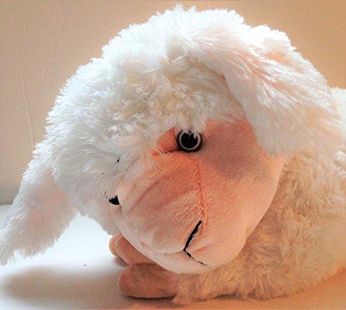 WHITE PLUSH Lamb Pink Stuffed Animal Sheep Toy 16 Pretty Cute