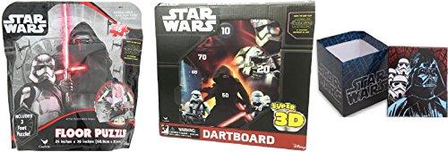 Star Wars Episode 7 The Force Awakens Floor Puzzle PLUS Super 3D Magnetic Dartboard PLUS Mini Storage Box BUNDLE
