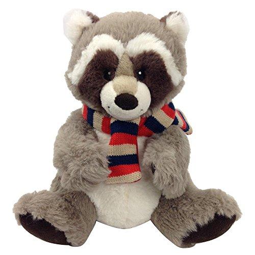 Snuggle Stuffs Kids Plush Taupe Rascal Raccoon Sitting Stuffed Animal 9