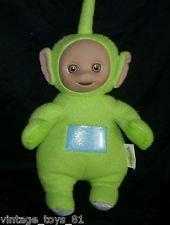 17 Talking Green Teletubbies 1998 Dipsy Stuffed Animal Plush Toy Playskool Doll