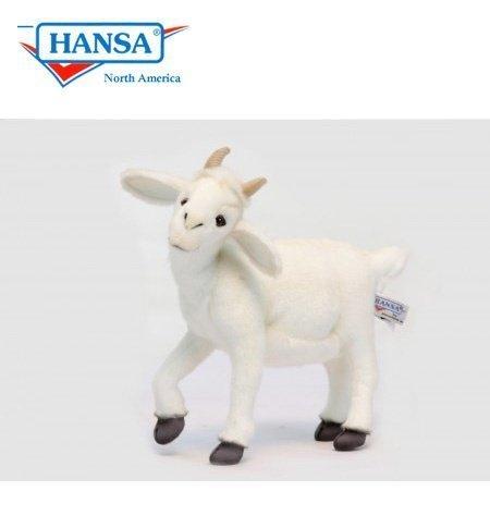 Hansa Baby White Goat Plush Toy 10 H by Hansa
