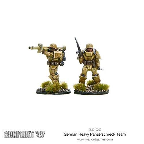 Warlord Games German Heavy Panzerschreck team Konflikt47 Wargaming Miniatures