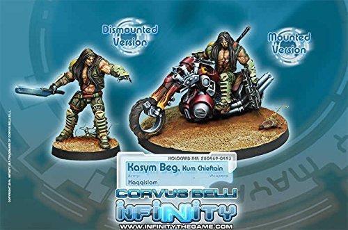 Haqqislam Kasym Beg Kum Chieftain Infinity Miniature Corvus Belli by Corvus Belli