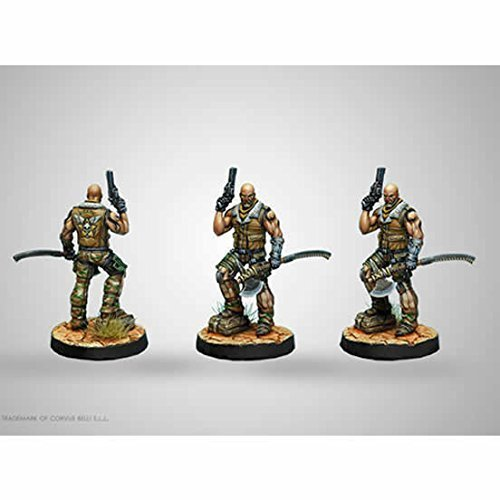 Roger Van Zant Captain 6th Airbourne Heavy Pistol AP CCW Ariadna Miniatures Infinity Corvus Belli
