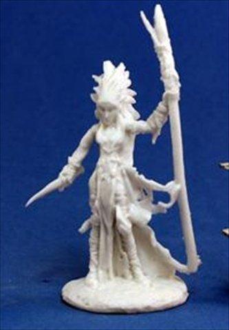 Liela Dark Elf Wizard 1 Miniature by Reaper