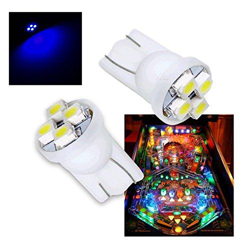 PAÂ 10PCS 555 T10 4SMD LED Pinball Machine Light Bulb Blue-63V