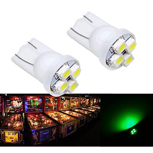 PA 25PCS 555 T10 4SMD LED Pinball Machine Light Bulb Green-63V