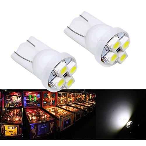 PA 25PCS 555 T10 4SMD LED Pinball Machine Light Bulb White-63V